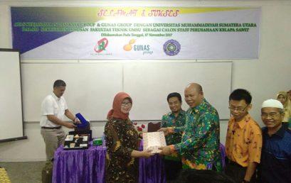 Kerjasama rekrutmen staf Incasi Raya Group dan Gunas Group dengan FATEK UMSU