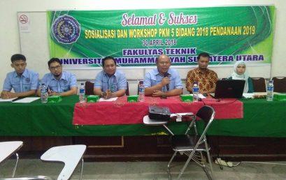 Sosialisasi dan Workshop PKM 5 Bidang 2018 Pendanaan 2019