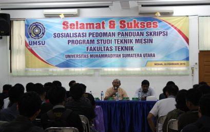 Sosialisasi Panduan Tugas Akhir (Skripsi) Program Studi Teknik Mesin