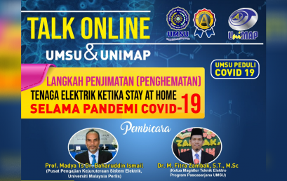 UMSU-UniMAP Malaysia Gelar Diskusi Online Penghematan Listrik di Masa Pandemi Covid-19