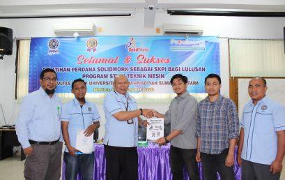 Prodi Teknik Mesin UMSU Pelatihan Perdana SKPI Solidwork