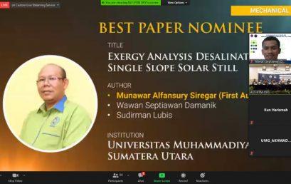 """Dosen Fakultas Teknik UMSU Raih """"Best Presenter dan Best Paper"""" Pada Seminar Internasional di Magelang"""
