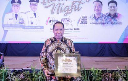 Rektor UMSU Terima Penghargaan Sahabat Pers SPS