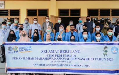 Rektor UMSU Lepas Empat Tim PKM Ke PIMNAS Ke-33 Di UGM Yogyakarta