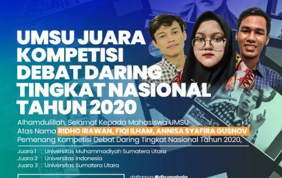 UMSU Juara Debat Daring Nasional